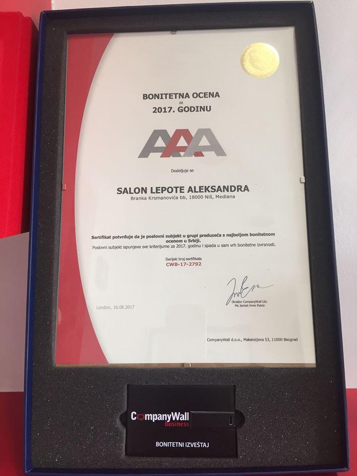 sertifikat bonitetne izvrsnosti